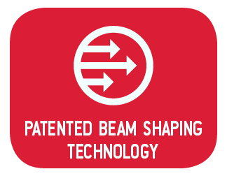 Patented Beam Shaping Technology