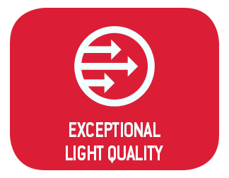 Exceptional Light Quality